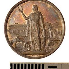 Medal - Royal Agricultural Society of Victoria, Silver Prize, Victoria, Australia, 1908
