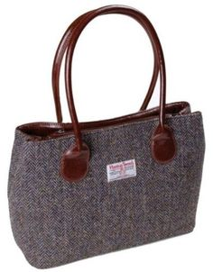 Ladies Brown and Purple Harris Tweed Plain Bag LB1003COL7 http://madeinsco.com/shop/ladies-brown-and-purple-harris-tweed-plain-bag-lb1003col7/