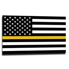 Smart Blonde American Flag Thin Yellow Line Novelty License Plate