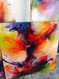 Abstract expressionistic painting by Brittany Lee Howard