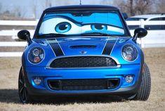 Custom Made Mini Cooper Eyes Sunshade - Eyeshade. - only Mini Cooper! Mini Countryman, Mini Clubman, My Dream Car, Dream Cars, Mini Car, Mini Mini, Mini Lifestyle, Mini Copper, Mini Things