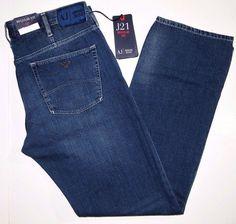 Armani Jeans mid-dark soft wash men's jeans size 34x32 style J21 NEW on SALE #ArmaniJeans #regularfit