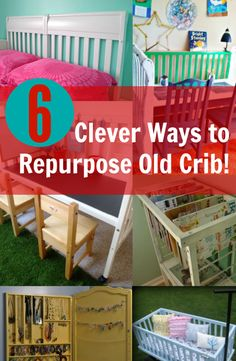 When your kids have outgrown their cribs, you're probably wondering what to do with the crib. So we made interesting collection of different creative ideas to repurpose cribs! See projects ---> http://www.discountqueens.com/6-clever-ways-to-repurpose-old-crib/
