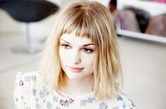 Dave Stewart Alison Sudol. The fringe should be just a little bit shorter.