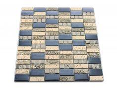 Glasmosaik Mosaik Fliesen Perlmutt Ornament Schwarz Silber Grau - Mosaik fliesen billig günstig