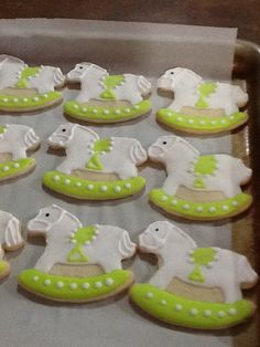 Rocking horses, baby shower cookies
