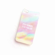 """""""Stay Hungry Stay Foolish"""" iPhone 4/4s or 5"""
