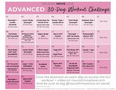 Get fit this summer with our free workout calendar! It's filled with strength training exercises and workouts to help you tone and tighten your troubled areas. Grab these summer workouts for women here! || Nourish Move Love #summerworkout #workoutsforwomen #workoutcalendar