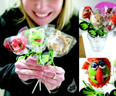 #Cakepops - #Muppet #cake - For all your cake decorating supplies, please visit craftcompany.co.uk