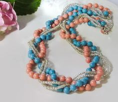 Chunky bridesmaid necklace Chunky pearl necklace by HollyODesigns