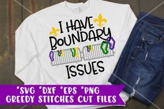 I Have Boundary Issues svg, dxf, eps, and png. Mardi Gras Outfits, Mardi Gras Costumes, Mardi Gras Parade Route, Mardi Gras Photos, Mardi Grad, Silhouette Machine, Silhouette Vinyl, Silhouette Projects, Mardi Gras Decorations