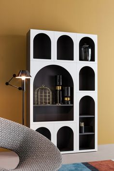 Lacquered modular bookcase CABINET DE CURIOSITÈ by Bonaldo