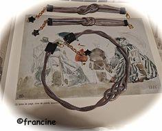 Les fermetures éclairs sont nouées  et deviennent bracelets et collier