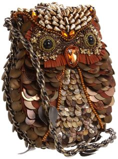 Amazon.com: Mary Frances 09-096 What A Hoot Shoulder Bag,Multi,One Size: Shoes
