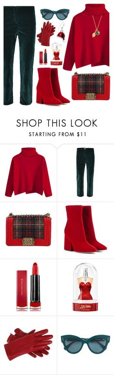 """Untitled #2424"" by ebramos ❤ liked on Polyvore featuring MPJ, Chanel, Maison Margiela, Max Factor, Jean-Paul Gaultier and Ottoman Hands"