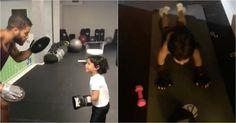 Alexander Jr., muestra su afición por el boxeo (VIDEO) #Farándula #alexanderdelgado #AlexanderJr #hijo #MilyAlemán