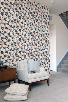 Hello Kitty Wallpaper - If I had my own house, you know I would do this! hA