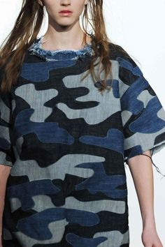 handmade/tailored DENIM CAMO Dress - awesome!