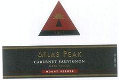2007 Atlas Peak Cabernet Sauvignon, Mount Veeder 750 mL