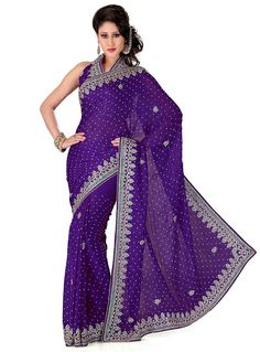 Check out the online collection of Sarees in the Catalog 6110 at Indian Cloth Store. Get Catalog 6110 of Sarees in various designs, colors & sizes. Fancy Sarees, Party Wear Sarees, Punjabi Fashion, Indian Fashion, Fancy Party, Work Party, Blue Dresses, Formal Dresses, Embroidery Saree