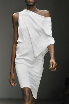 Todd Lynn runway collection.  White Draped Dress, Minimal + Chic