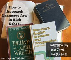 How to approach high school language arts