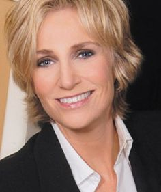 Jane Lynch. http://www.myclassiclyrics.com/artist_biographies/Jane-Lynch-Biography.htm  She is one funny lady.