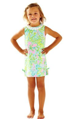 Lilly Pulitzer Girls Little Lilly Classic Shift Dress -Multi Coconut Jungle