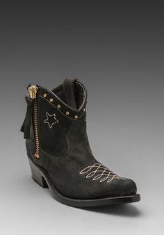 ANINE BING Cowboy Boots in Bl on shopstyle.com