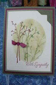 Stem Silhouette Sympathy by octoberbabe - Cards and Paper Crafts at Splitcoaststampers