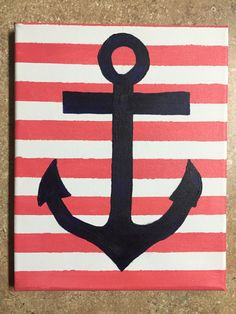A personal favorite from my Etsy shop https://www.etsy.com/listing/252223449/striped-anchor-nauticle-canvas-painting