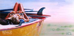 """Felicità"" - Antoine RENAULT 2012  Acrylic on canvas - 40x80cm  http://antoinerenault.com"
