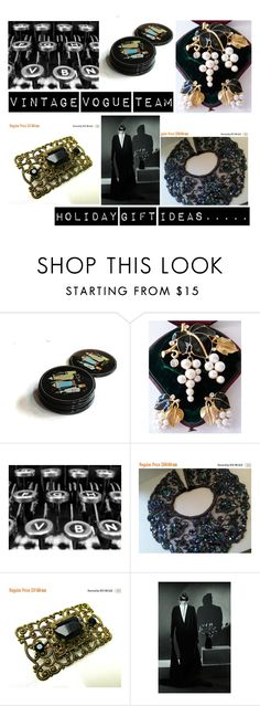 """""""Holiday Gift Ideas....."""" by martinimermaid ❤ liked on Polyvore featuring Trifari and vintage"""