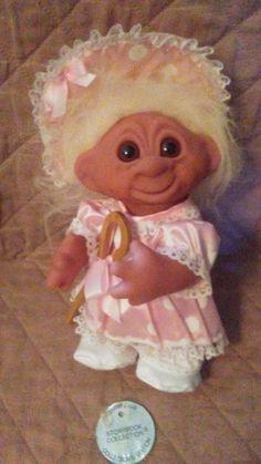 """2/"""" Russ Miniature Troll Doll NEW IN ORIGINAL BAG GRANDMA /& ME w//FLOWERS"""