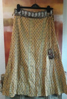 YOUNIQUE S MAXI PEASANT BOHO HIPPIE SKIRT GYPSY PAISLEY SEQUIN BEADED BOHEMIAN #Younique #PeasantBoho