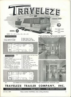 Traveleze   Flickr - Photo Sharing! Old Campers, Vintage Campers Trailers, Horse Trailers, Camper Trailers, Happy Campers, Rv Motorhomes, Classic Trailers, Mini Camper, Vintage Rv