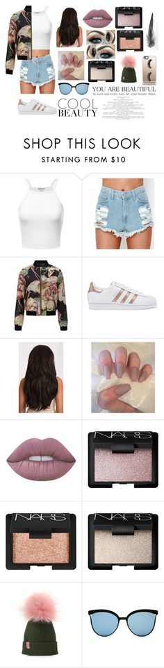 """""""F**K IT LOVE IT"""" by bronte-ryan ❤ liked on Polyvore featuring Miss Selfridge, adidas Originals, Lime Crime, NARS Cosmetics and Casetify"""