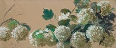 Leon Wyczolkowski - Blooming Viburnum (Decorative Frieze),