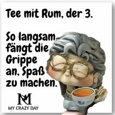 Tee mit Rum – Gute Texte Tee mit Rum Category: lustig This image has. Crazy Day, Cool Lyrics, Rum, I Laughed, Haha, About Me Blog, Motivation, Sayings, Funny
