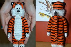 100% FREE PATTERN, Miniature Hobbes, Not available to download but there are written instructions to follow