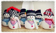 hmong snowman inspired.  Facebook.com/flowerclothshop Sock Snowman, Snowmen, Hmong Wedding, Hmong Clothing, Hmong People, Arts And Crafts, Diy Crafts, Christmas Decorations, Christmas Ornaments