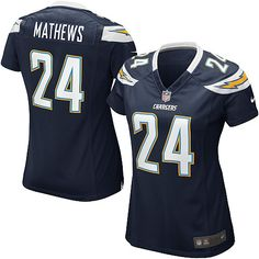 Women's Nike San Diego Chargers #24 Ryan Mathews Elite Team Color Navy Jersey