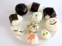 Onigiri On Parade: A guide to onigiri (omusubi) rice ball shapes, types and fun | Just Bento