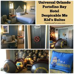 Portofino Bay Despicable Me Kid's Suites - We love the Minions and you can find these rooms at Loews Portofino Bay.