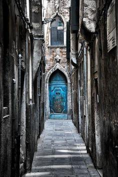 Blue Door, Venice, Italy