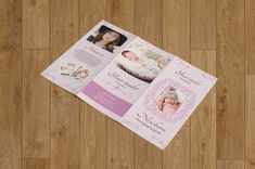 Newborn photography trifold brochure-Photographer psd template-Birth Announcement--NB-001 by TemplateStock on Etsy
