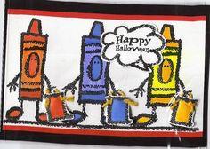 Crayon Kids Treaters using Stampin' Up! Crayon Kids retired stamp set.