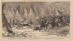 """""""The Seventh U.S. Cavalry Charging into Black Kettle's Village at Daylight, November 27, 1868."""""""