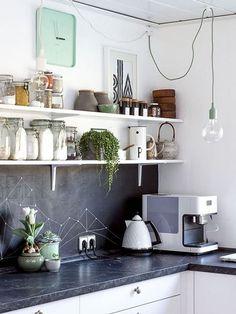 Paredes de pizarra en la cocina, ¡la inspiración que necesitas!
