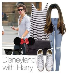 """""""REQUESTED: Disneyland with Harry"""" by style-with-one-direction ❤ liked on Polyvore featuring Topshop, T By Alexander Wang, Zara, Converse, Ray-Ban, women's clothing, women's fashion, women, female and woman"""